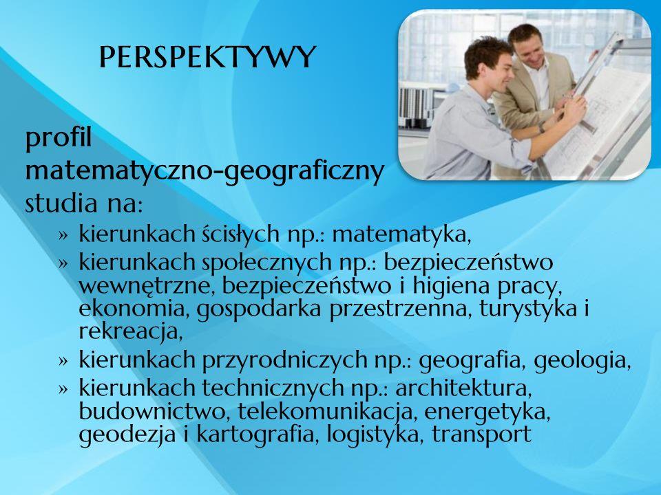 perspektywy profil matematyczno-geograficzny studia na: