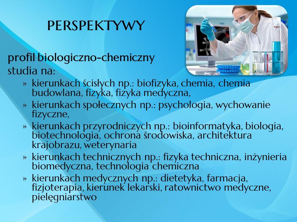 perspektywy profil biologiczno-chemiczny studia na: