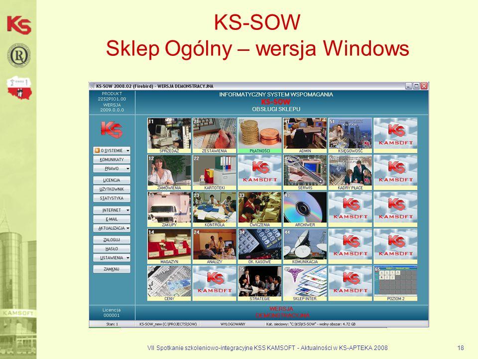 KS-SOW Sklep Ogólny – wersja Windows