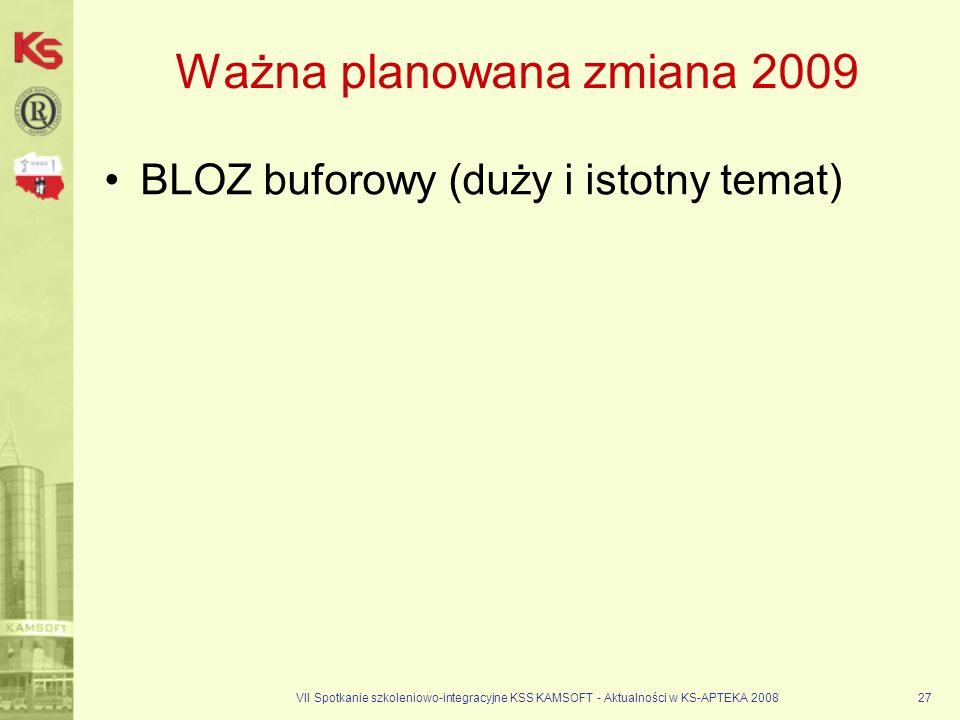 Ważna planowana zmiana 2009