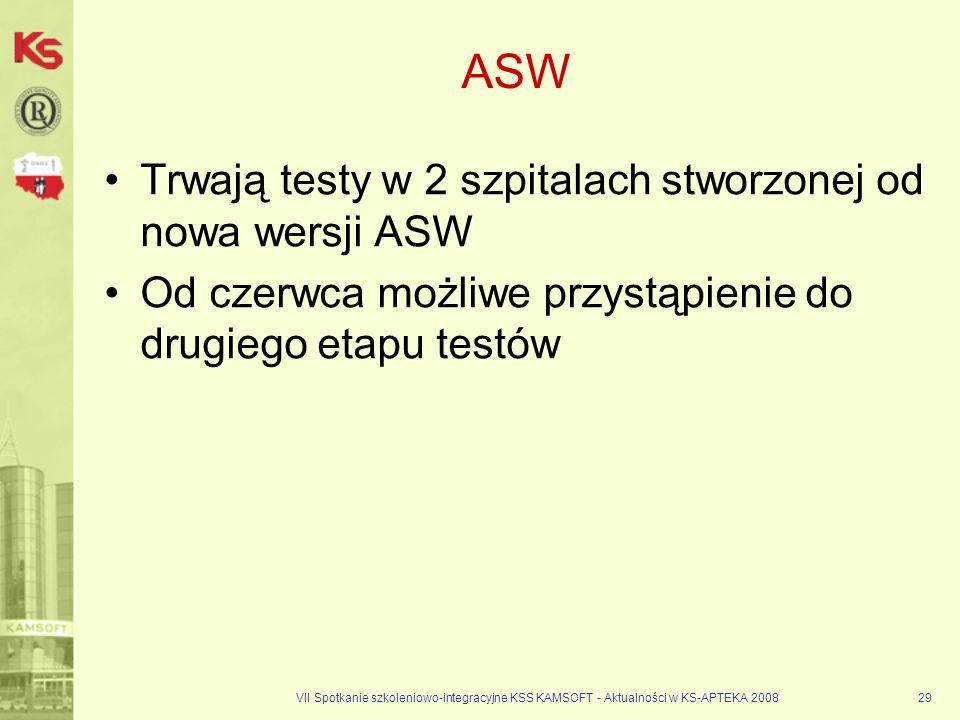 ASW Trwają testy w 2 szpitalach stworzonej od nowa wersji ASW