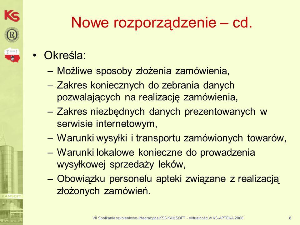 Nowe rozporządzenie – cd.