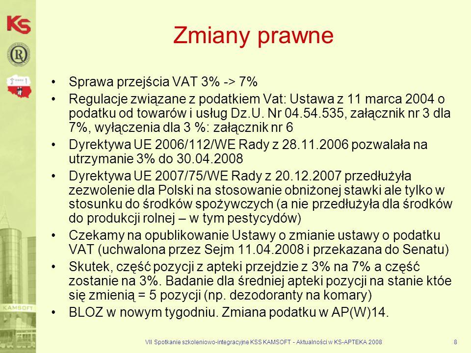 Zmiany prawne Sprawa przejścia VAT 3% -> 7%