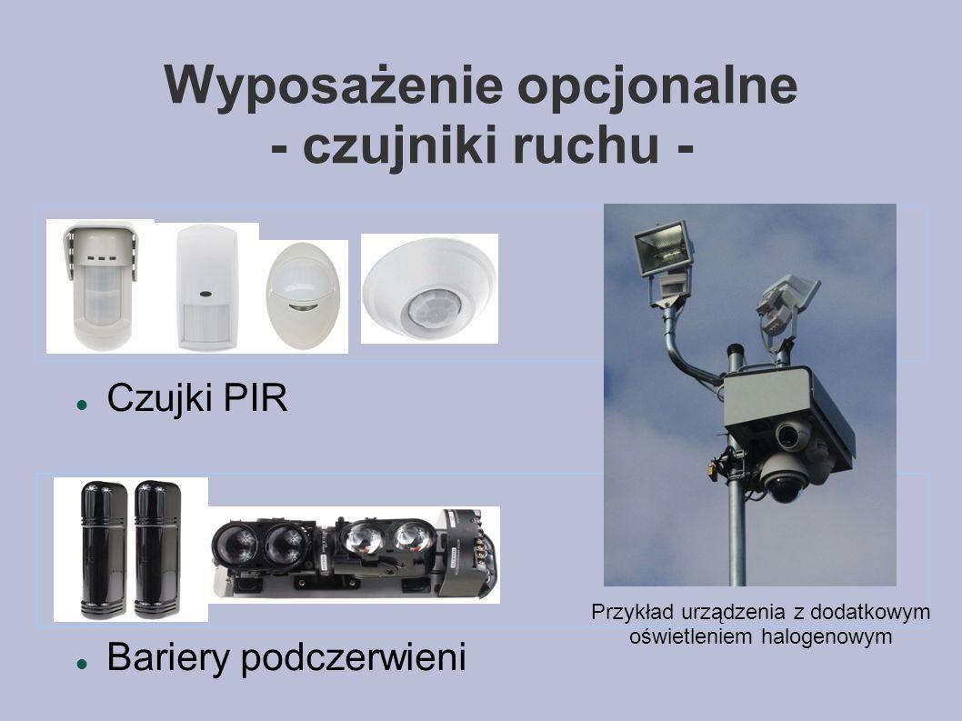 Wyposażenie opcjonalne - czujniki ruchu -
