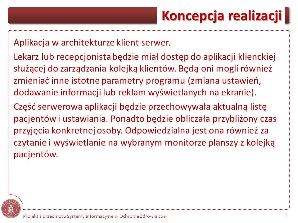 Aplikacja w architekturze klient serwer
