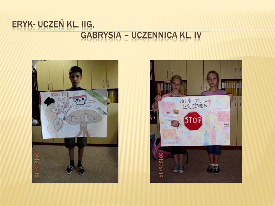 Eryk- uczeń kl. IIG, Gabrysia – uczennica kl. IV