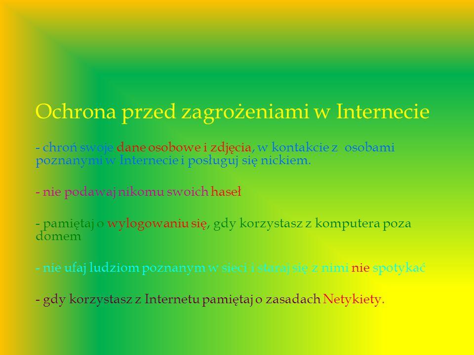 Ochrona przed zagrożeniami w Internecie