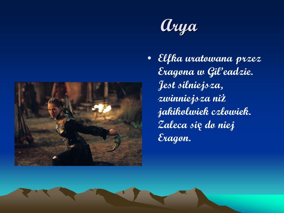 Arya Elfka uratowana przez Eragona w Gil'eadzie.