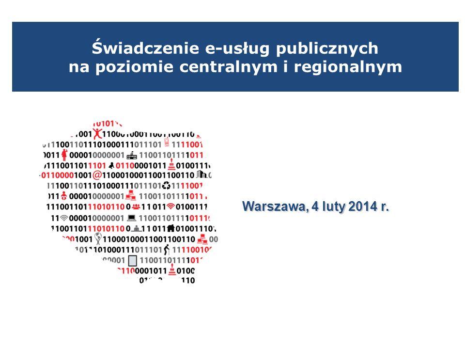 Świadczenie e-usług publicznych na poziomie centralnym i regionalnym
