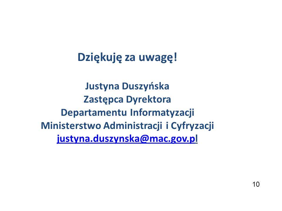 Departamentu Informatyzacji Ministerstwo Administracji i Cyfryzacji