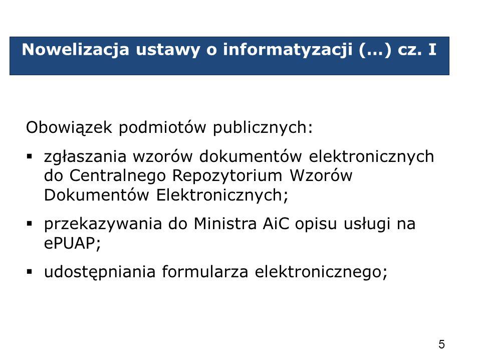 Nowelizacja ustawy o informatyzacji (…) cz. I