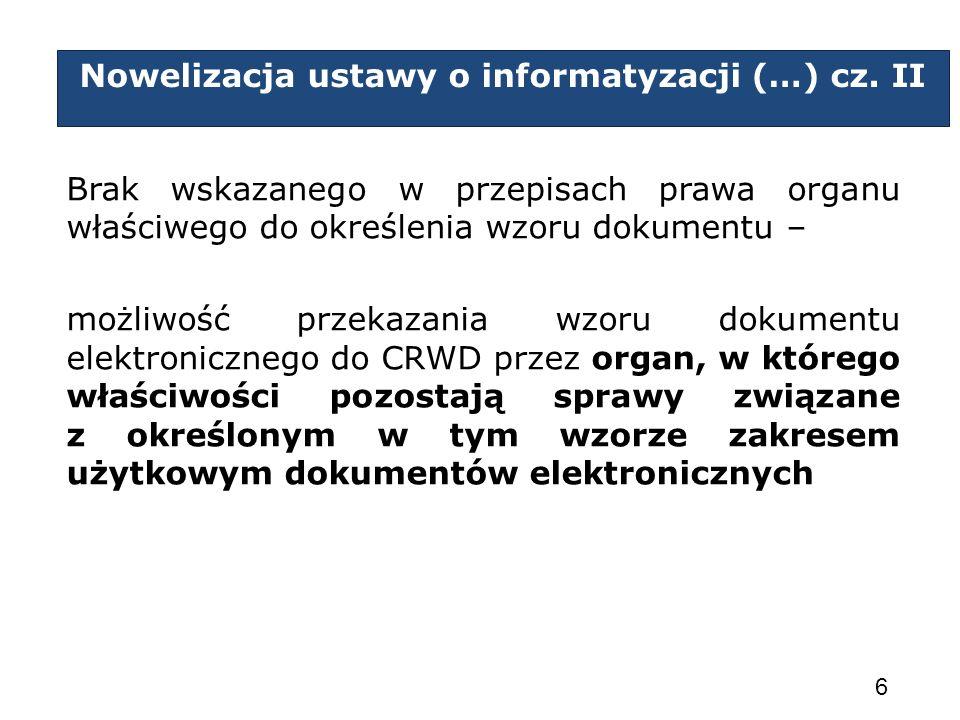 Nowelizacja ustawy o informatyzacji (…) cz. II