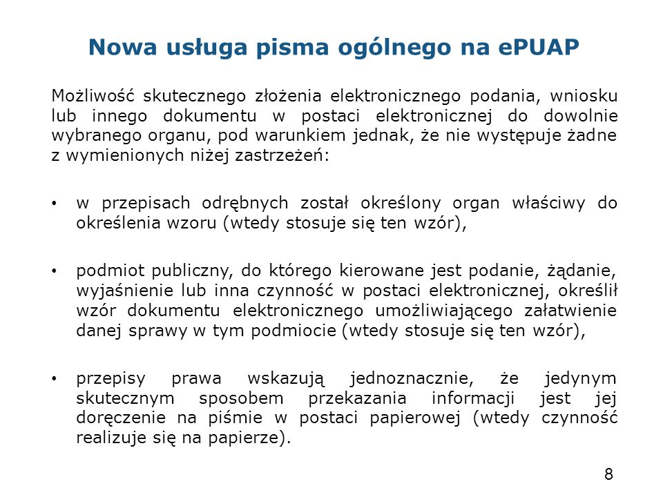 Nowa usługa pisma ogólnego na ePUAP