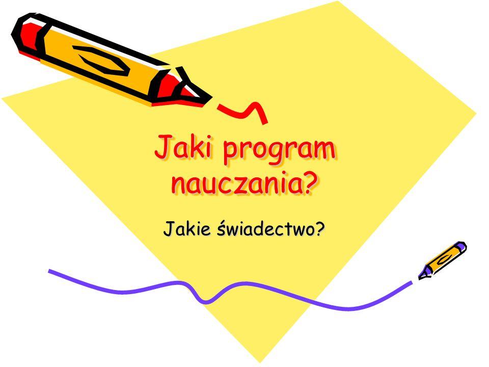Jaki program nauczania