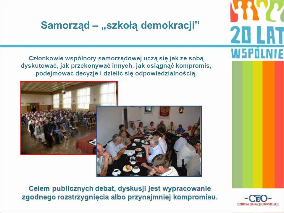 """Samorząd – """"szkołą demokracji"""