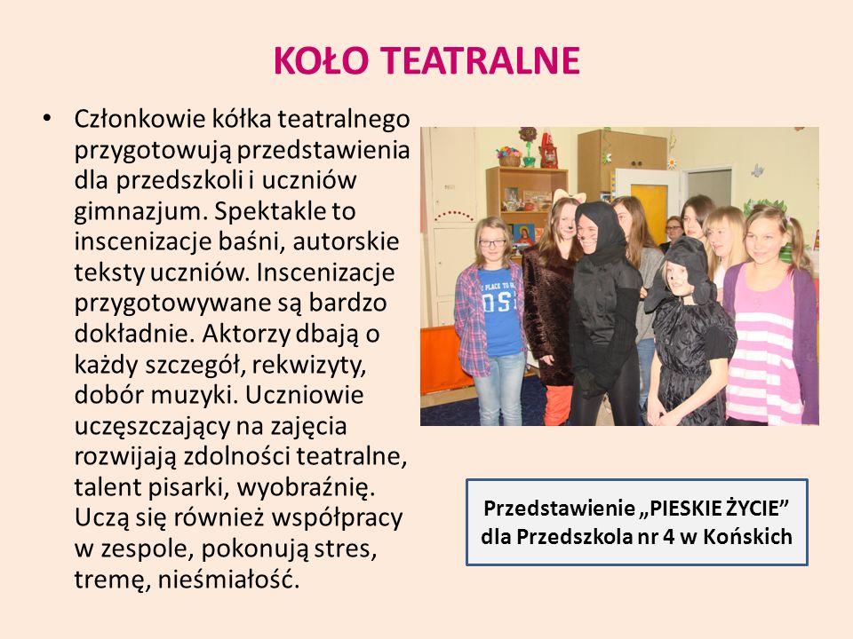 """Przedstawienie """"PIESKIE ŻYCIE dla Przedszkola nr 4 w Końskich"""