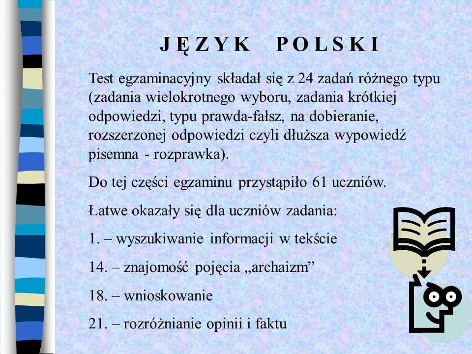J Ę Z Y K P O L S K I