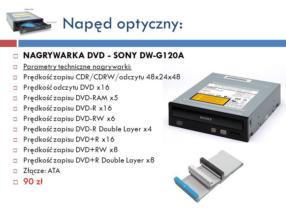 Napęd optyczny: NAGRYWARKA DVD - SONY DW-G120A 90 zł