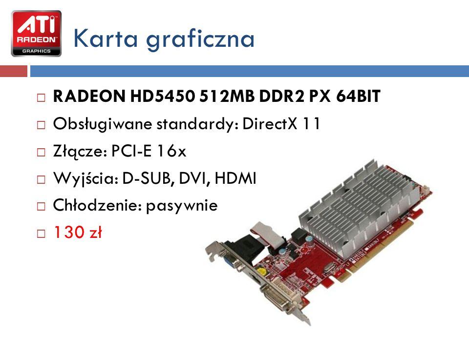 Karta graficzna RADEON HD5450 512MB DDR2 PX 64BIT