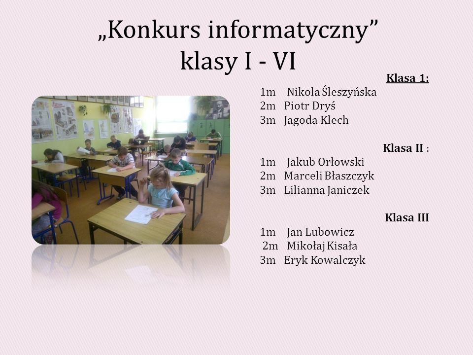 """""""Konkurs informatyczny klasy I - VI"""