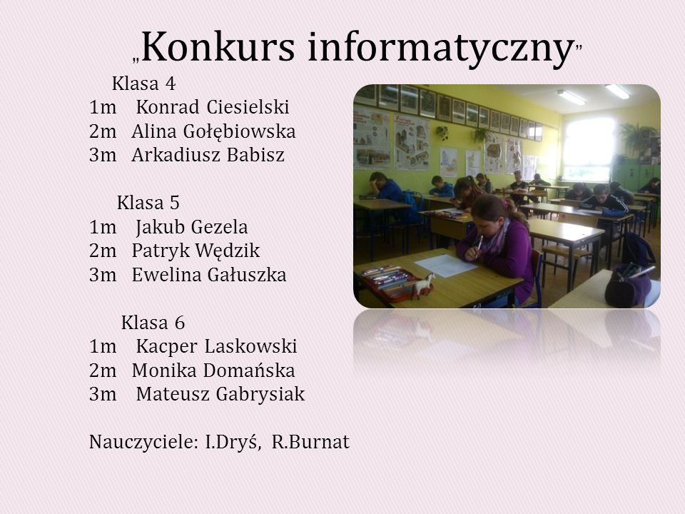 """""""Konkurs informatyczny"""