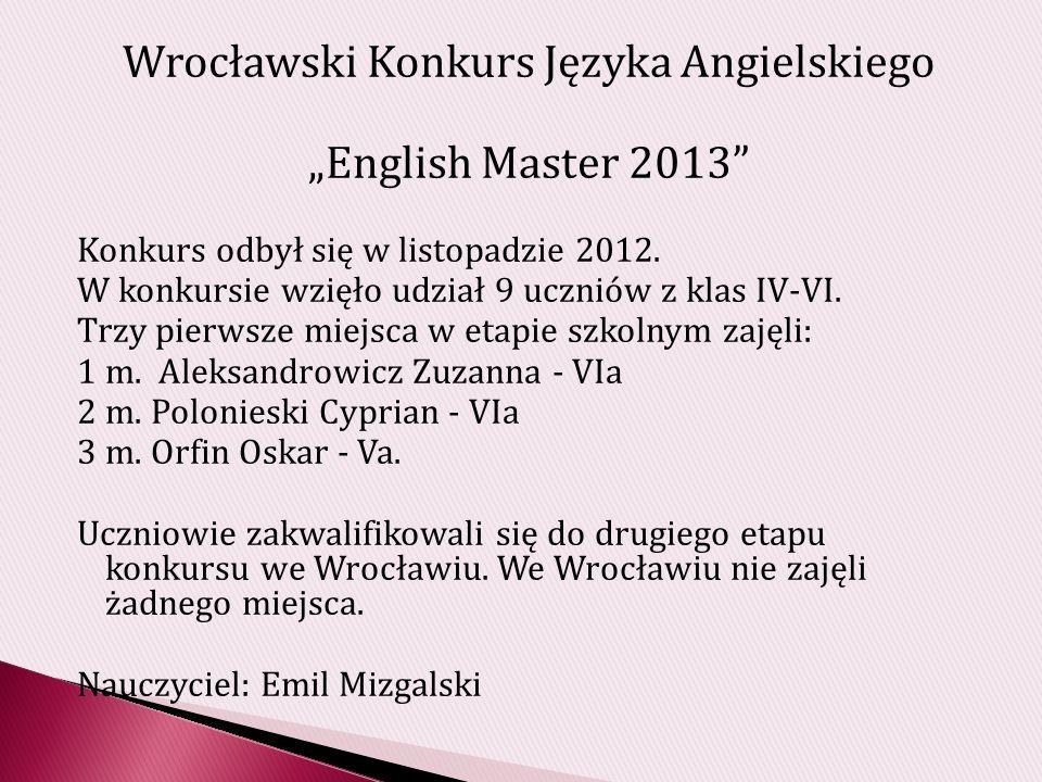 Wrocławski Konkurs Języka Angielskiego