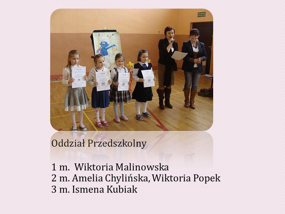 Oddział Przedszkolny 1 m. Wiktoria Malinowska 2 m.