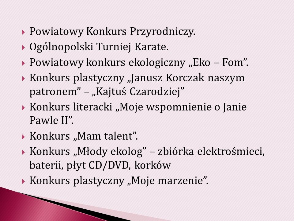 Powiatowy Konkurs Przyrodniczy.