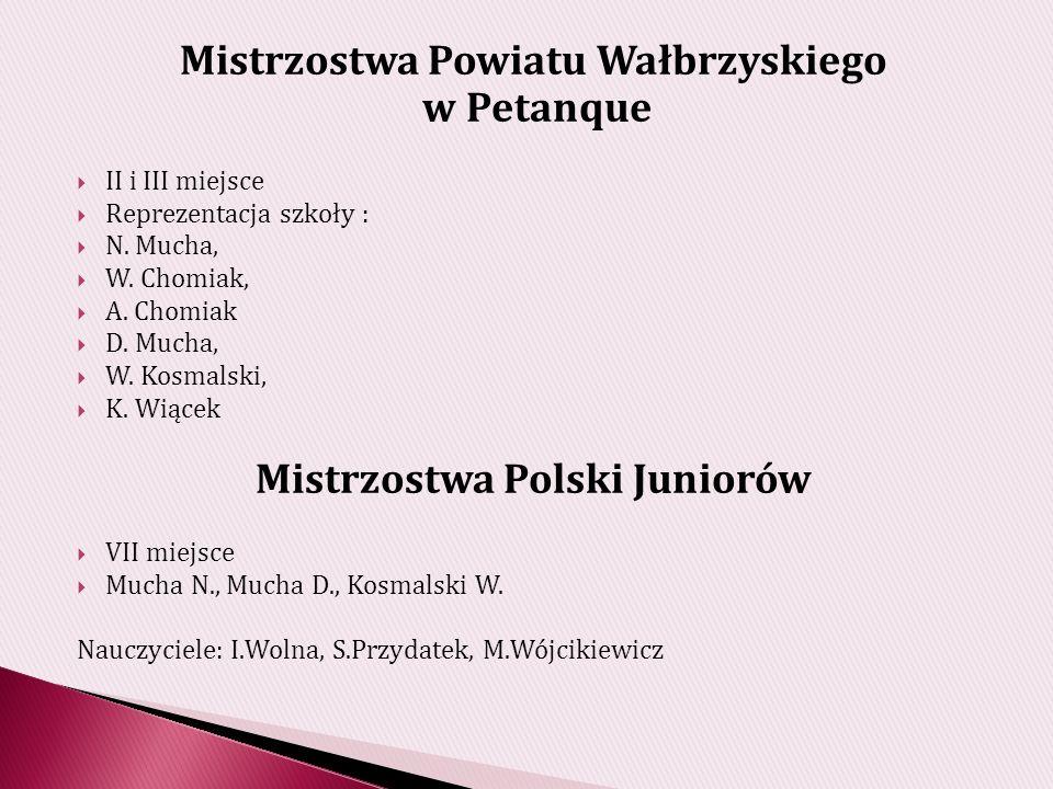 Mistrzostwa Powiatu Wałbrzyskiego Mistrzostwa Polski Juniorów