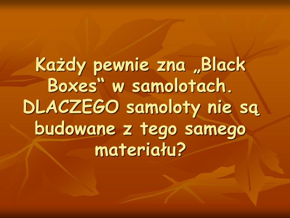 """Każdy pewnie zna """"Black Boxes w samolotach"""