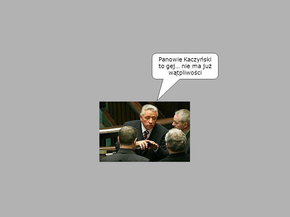 Panowie Kaczyński to gej… nie ma już wątpliwości