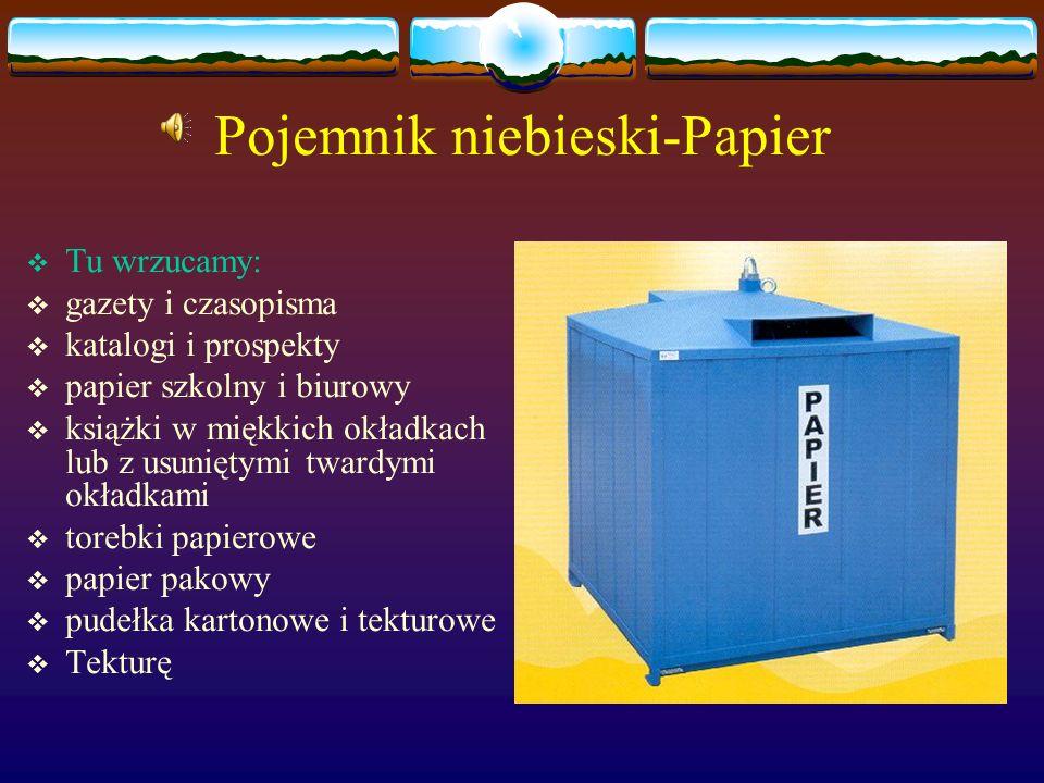 Pojemnik niebieski-Papier