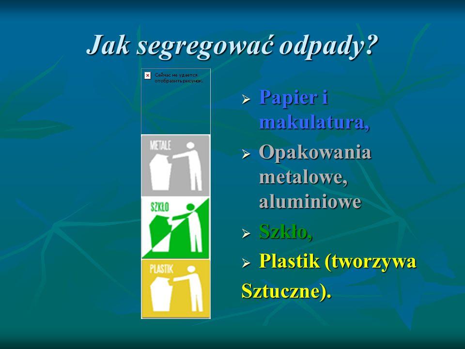 Jak segregować odpady Papier i makulatura,
