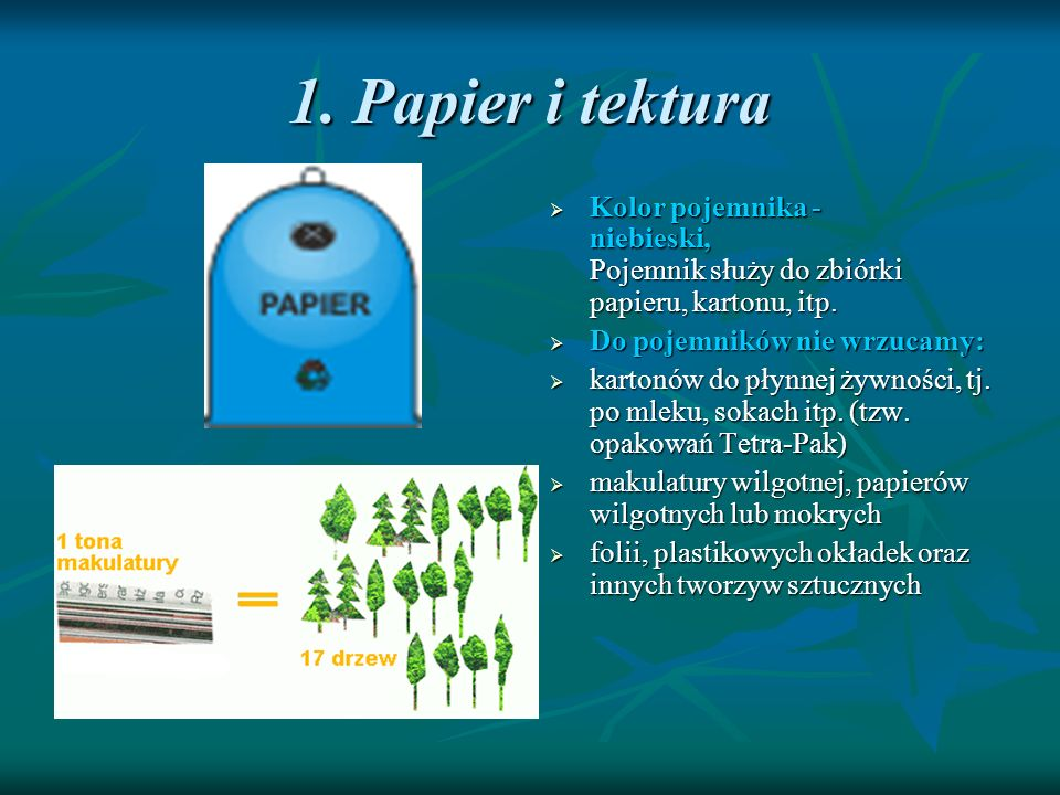 1. Papier i tektura