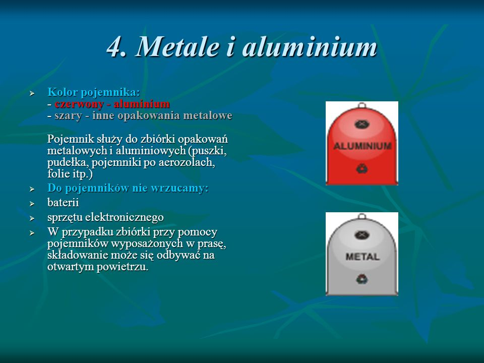 4. Metale i aluminium