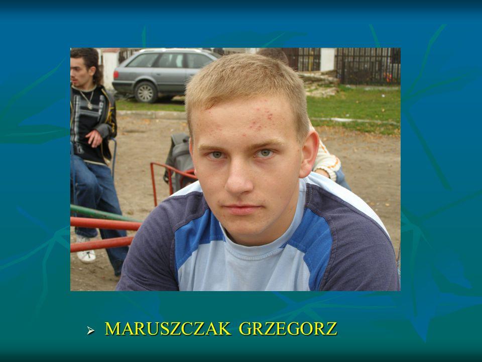 MARUSZCZAK GRZEGORZ