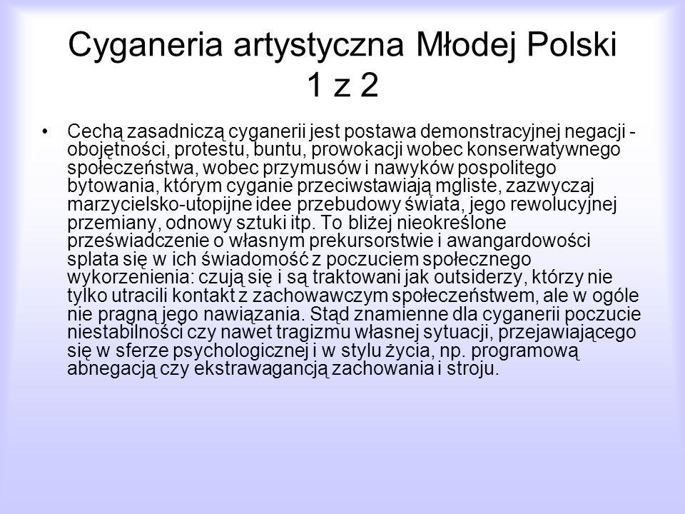 Cyganeria artystyczna Młodej Polski 1 z 2