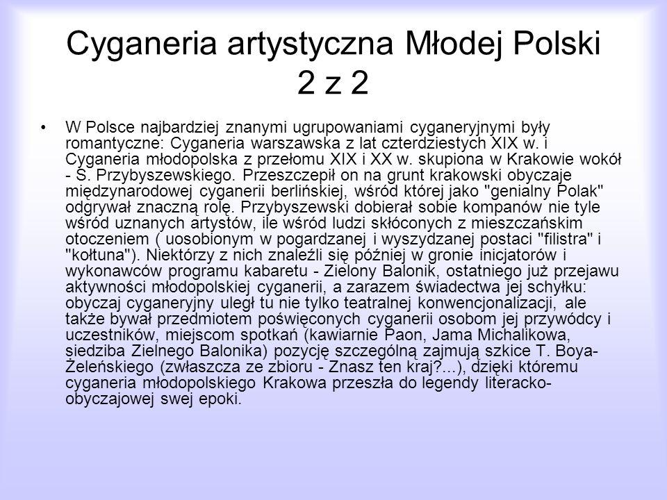 Cyganeria artystyczna Młodej Polski 2 z 2