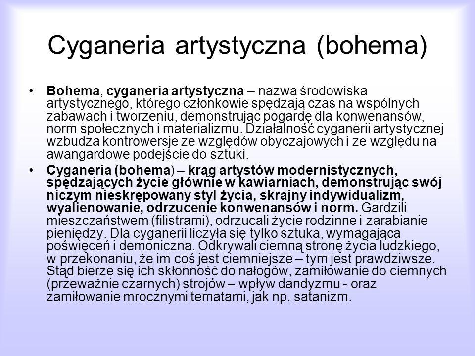 Cyganeria artystyczna (bohema)
