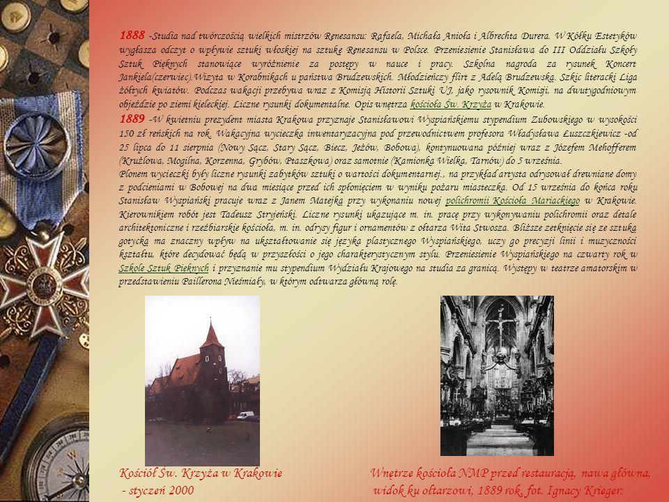 Kościół Św. Krzyża w Krakowie - styczeń 2000