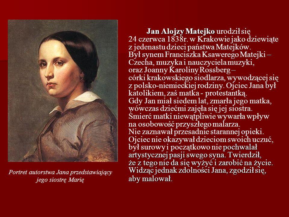 Portret autorstwa Jana przedstawiający jego siostrę Marię