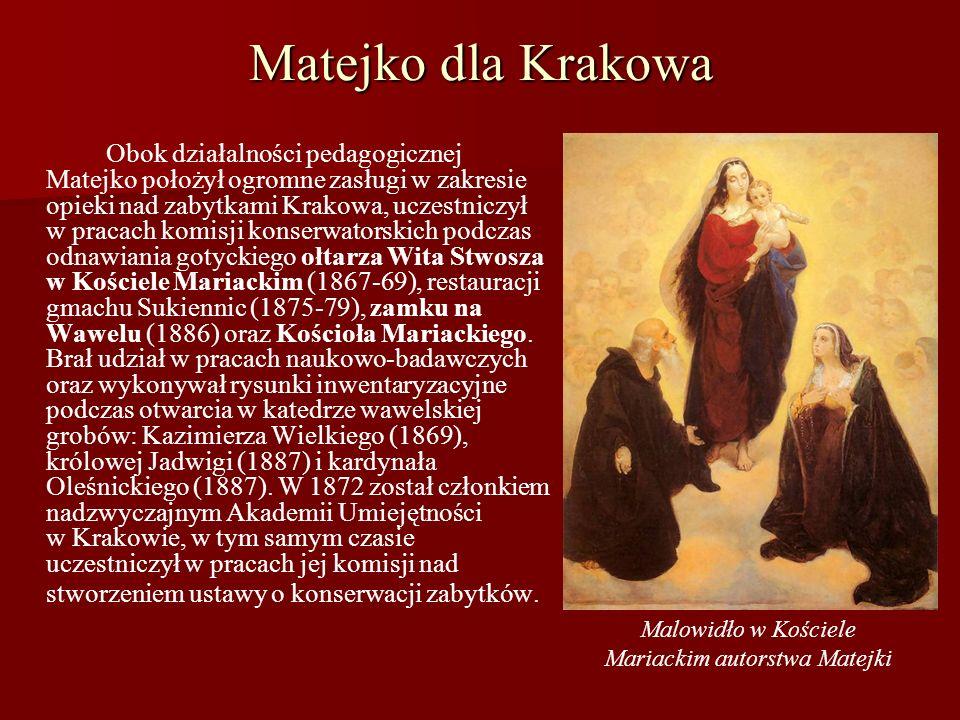 Malowidło w Kościele Mariackim autorstwa Matejki
