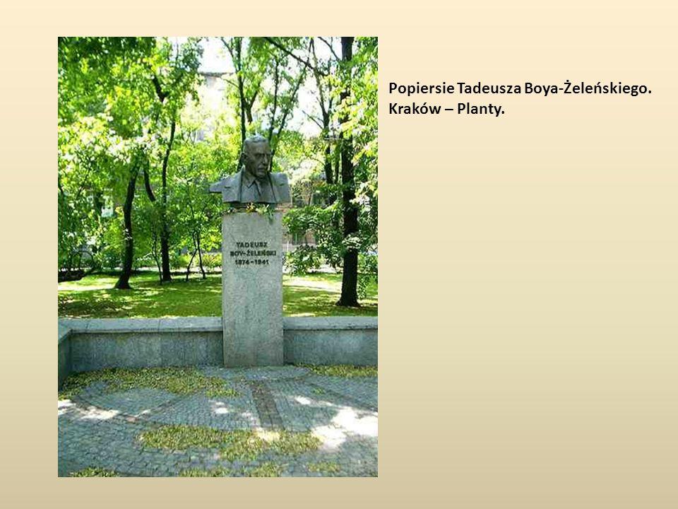 Popiersie Tadeusza Boya-Żeleńskiego.