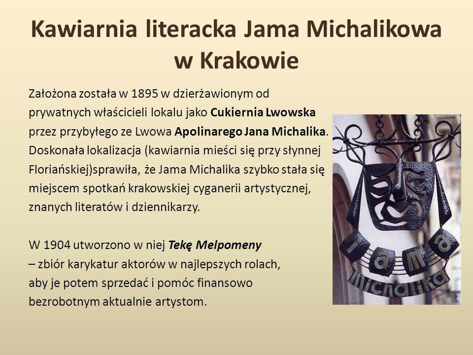 Kawiarnia literacka Jama Michalikowa w Krakowie