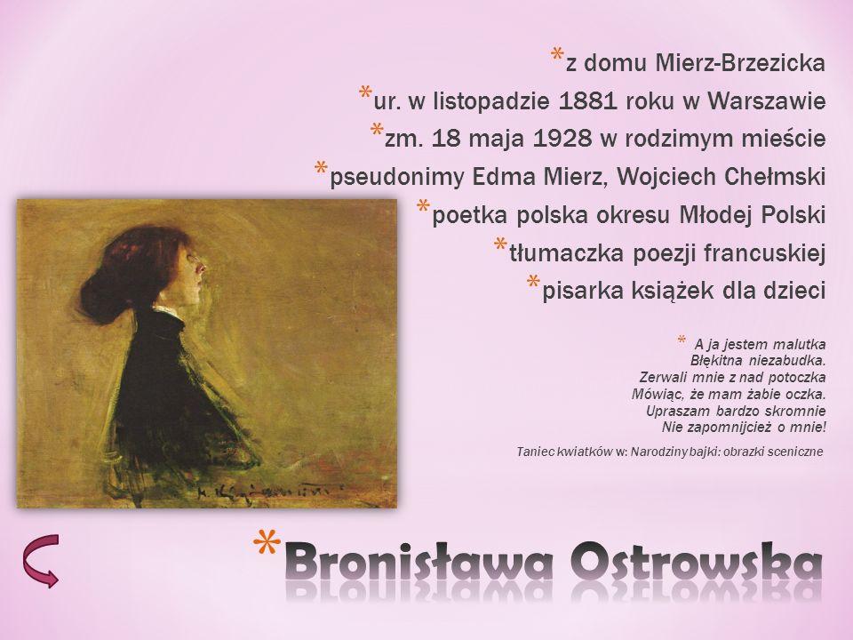 Bronisława Ostrowska z domu Mierz-Brzezicka