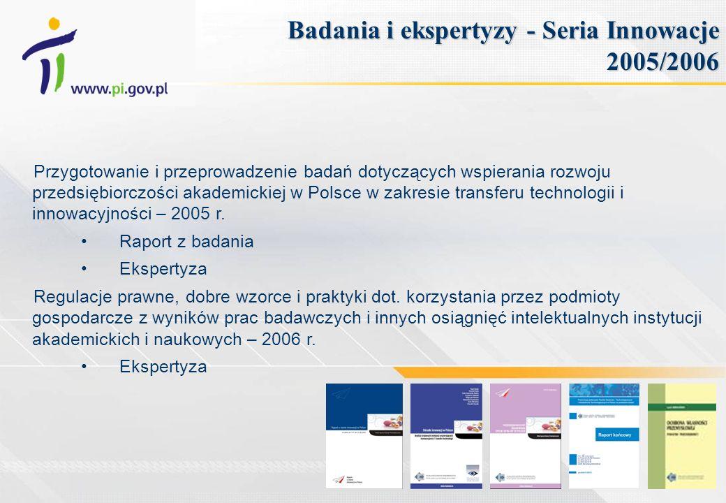 Badania i ekspertyzy - Seria Innowacje 2005/2006