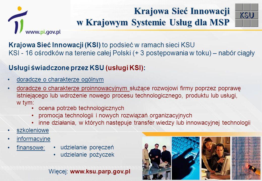 Krajowa Sieć Innowacji w Krajowym Systemie Usług dla MSP