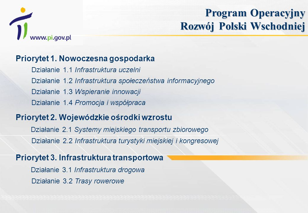 Program Operacyjny Rozwój Polski Wschodniej
