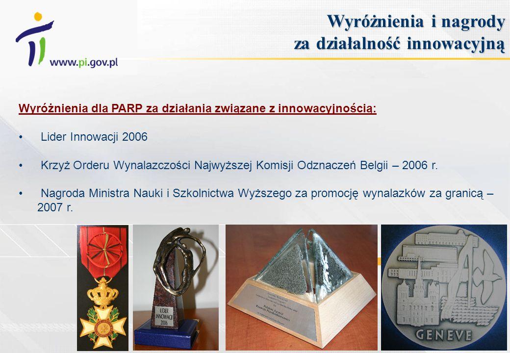 Wyróżnienia i nagrody za działalność innowacyjną