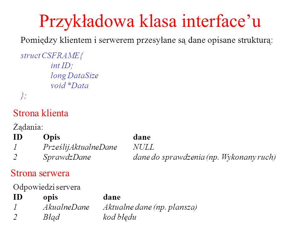 Przykładowa klasa interface'u